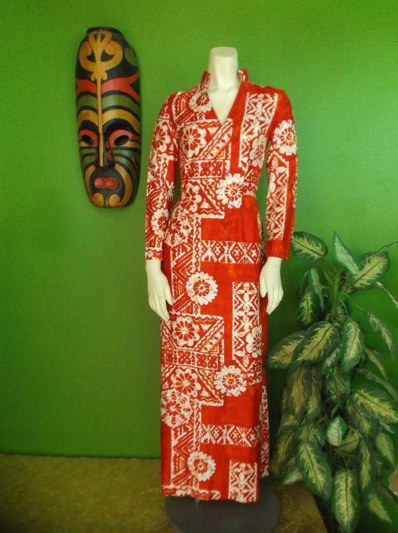 FABOO Sexy Cherry Red Batik Print Cheongsam by TrixiesTikiTogs, $42.00