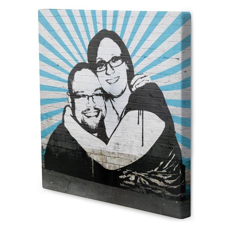 La coppia raggiante! Effetto pop art street bansky
