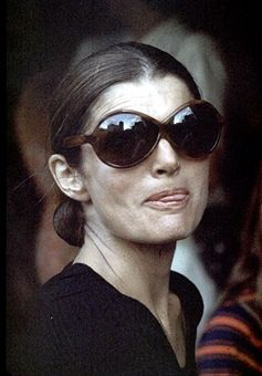 Jackie Onassis during Jackie Kennedy and Family Shopping in Capri - August 24, 1970 in Capri, Italy.