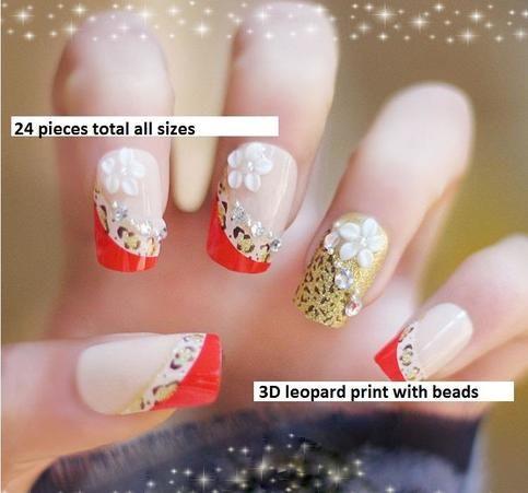 33 best 3d nail art images on pinterest 3d nails art japanese leopard animal print faux fake nails sold by bobokat solutioingenieria Choice Image