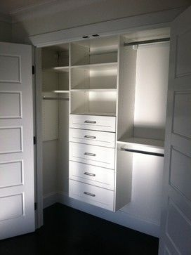 Reach-in Closet traditional closet Reach-In Closet reach in closet save space hanging , storage, organization, functional, Expert Closets , Cape Cod, affordable , stylish , maximize , sweaters, dresses , pants , coats , scarves , gloves , easy access