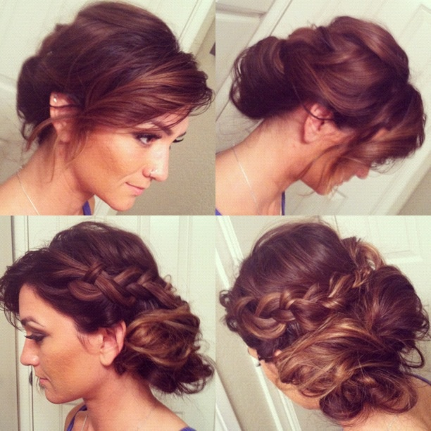 Romantic Messy Braid Updo For Scotts Wedding Hair And Make Up