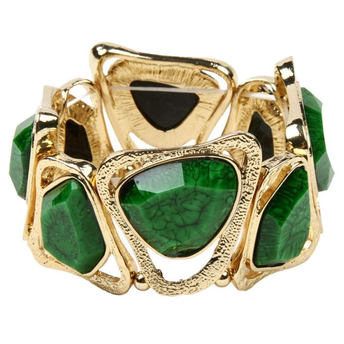 Statement Clutch - Gilded Emerald and Ruby by VIDA VIDA LisCA