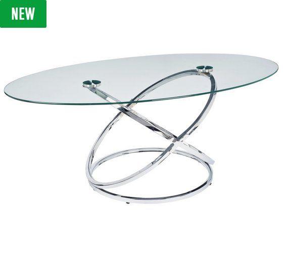 Home Atom Glass Coffee Table