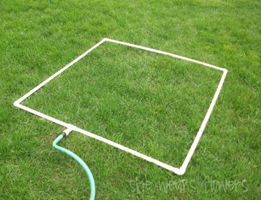 make a pvc sprinkler for your garden bed (or for the kiddos!)