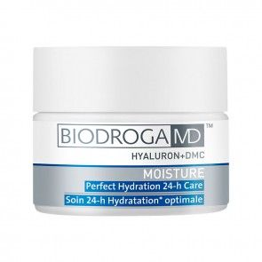 BIODROGA MD MOISTURE Perfect Hydration 24-h Care with hyaluronic acid provides an intensive supply of moisture to the skin and assists in re- establishing the skin's moisture balance. Flaky and unpleasantly tight, dry skin is quickly removed, making the skin smooth and nourished once again. Skin is protected from external influences and the damaging effects of free radicals as a UVA/UVB protective complex shields the skin from the sun's harmful rays.