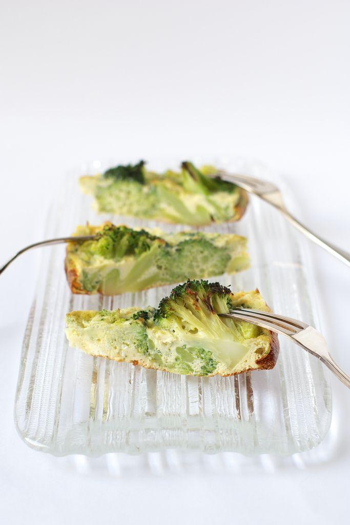 Broccoli, Feta and Pesto Frittata