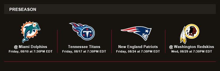 2012 Tampa Bay Bucs schedule