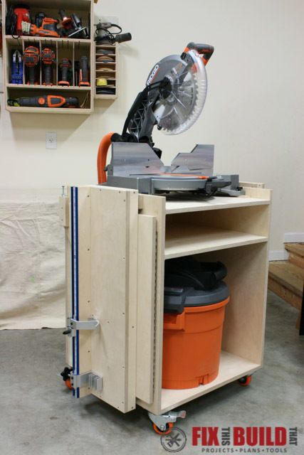 Mobile Miter Saw Stand Plans In 2019 Miter Saw Stand