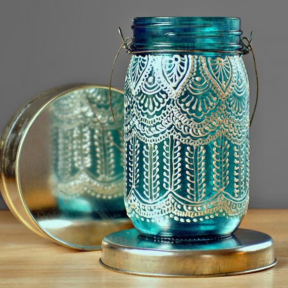 Beautiful Moroccan-inspired details added with puff paint
