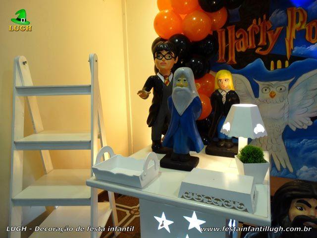 Decoração de festa Harry Potter provençal simples - detalhes da mesa temática imagem 01