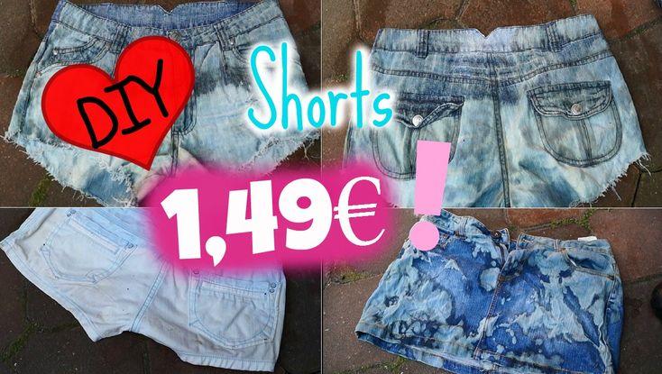 DIY Shorts für NUR 1,49€ ! -  Used Look, bleichen, ausfransen