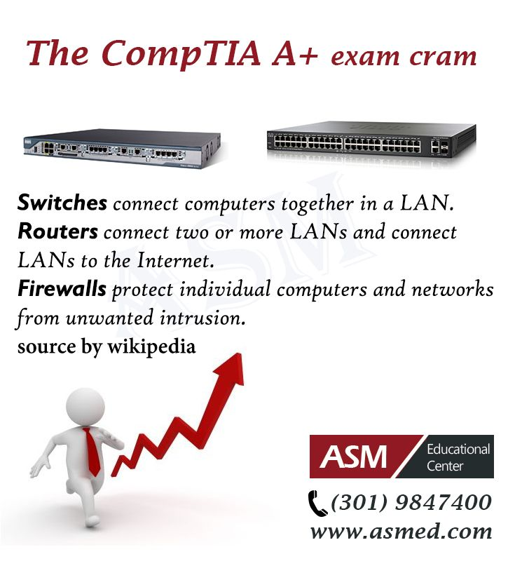 For more information to get certified for Microsoft MCSA, CompTIA A+, Network+, Security+ and Cisco CCNA, CCNP   please go to http://www.asmed.com/comptia-a/