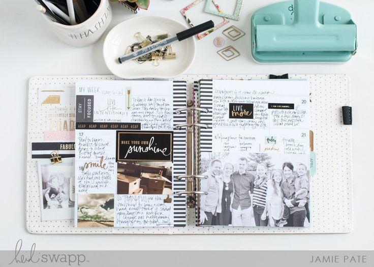 5 Ways To Add Photos to Your Memory Planner | @jamiepate for @heidiswapp