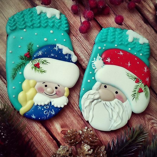 Beautiful idea for Christmas cookies. A lot of work