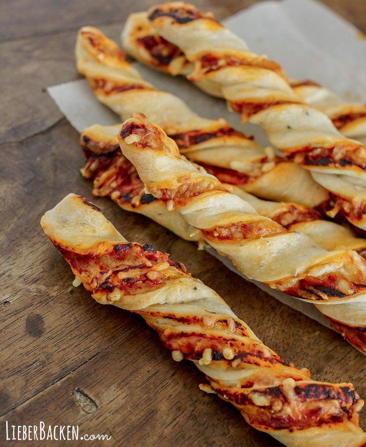 Pizza Stangen (einfaches Rezept)