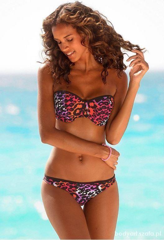 Strój kąpielowy Bikini XS 34 Lato 2014 Panterka   Cena: 39,99 zł  #kostiumykapielowe #strojkapielowy34 #rozowestrojekapielowe