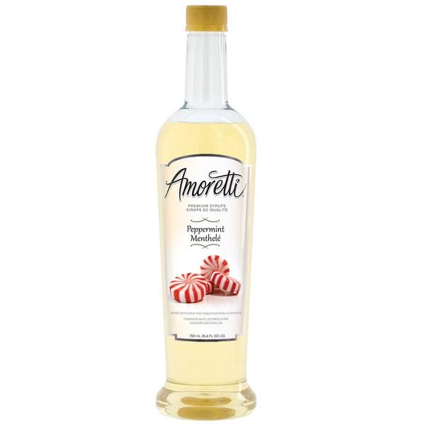 Made with natural flavor Delicious for flavoring beverages  Only 35 calories per serving and 62 servings per bottle Free pump included  Proudly made in Southern California Amoretti Premium Peppermint Syrup is the most delicious peppermint you will ever use because it is made with only the very finest natural ingredients, with no artificial flavors or colors, no artificial sweeteners, and no high fructose corn syrup. It is sophisticated, complex, and delicious, with a multitude of uses…