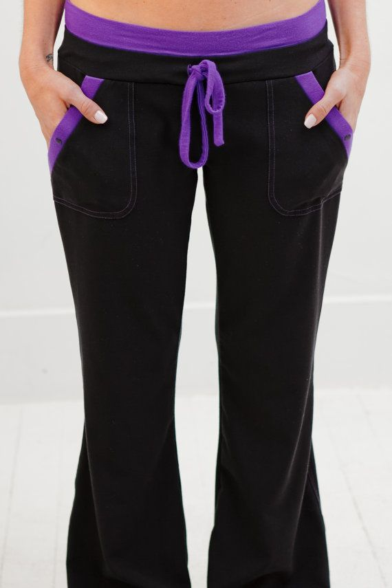 Purple and Black Nursing Uniform Medical Scrubs Dental by EmmiWest