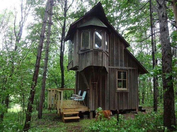 two story tiny house in the woods - Two Story Tiny House