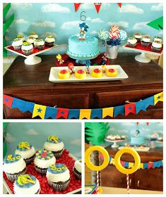 Sonic the Hedgehog Party by Cupcake Wishes