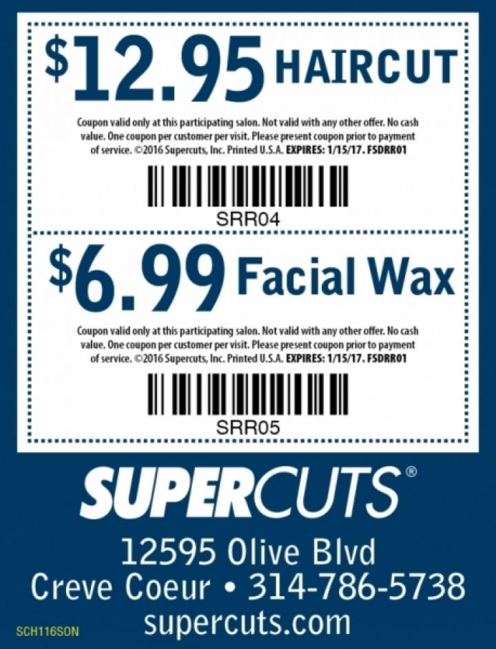 Supercuts is a great place to go and have your hair cut, and now you can save when you go. Print out this new Supercuts coupon to save $5 off your purchase. They offer great haircut all from trained and licensed haircutters. An appointment is not even necessary to get your hair cut and styled.