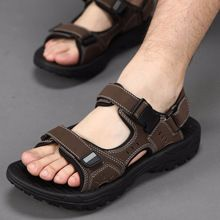 US $22.60 2017 New Men's sandals Summer Black Casual Shoes High Quality Flat Beach Sandals slippers for Men hommes sandalias size 45 46 47. Aliexpress product