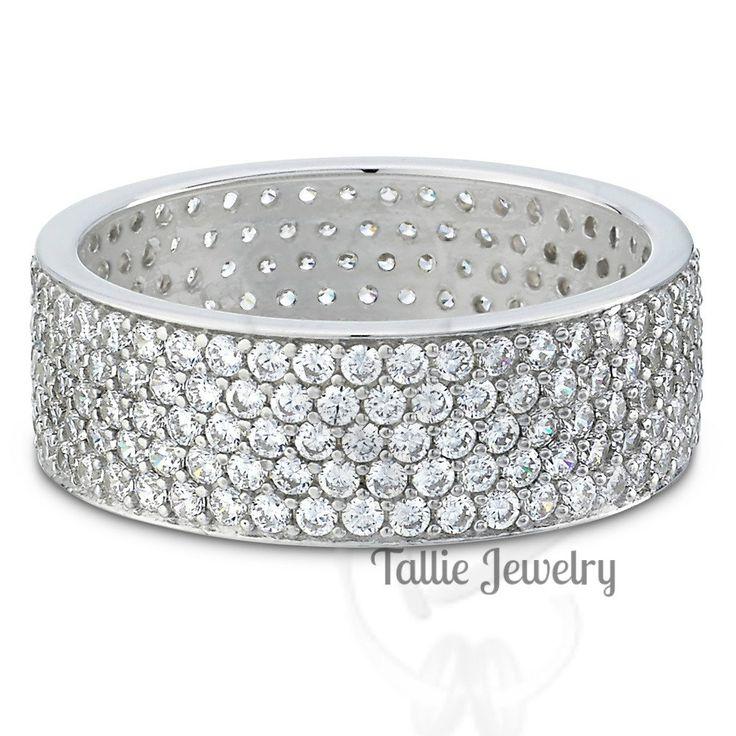 Womens 2 25 Carats Diamond Eternity Rings 14k Gold Wedding Band Matching