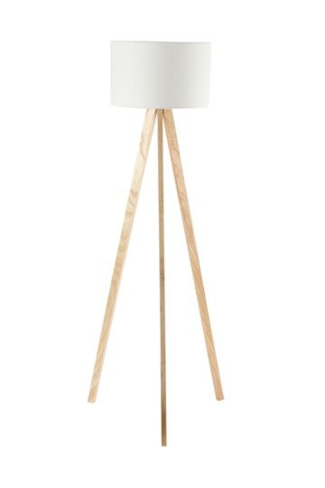 Wooden Standing Tripod Lamp Set