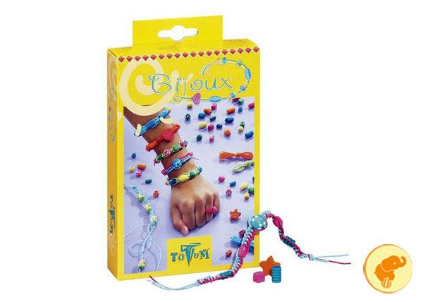 Cordoncini e perle in legno per creare fantastici bijoux!  Da 5 anni.  Acquista qui: http://www.zazieshop.it/collections/giocattoli/products/biscioux
