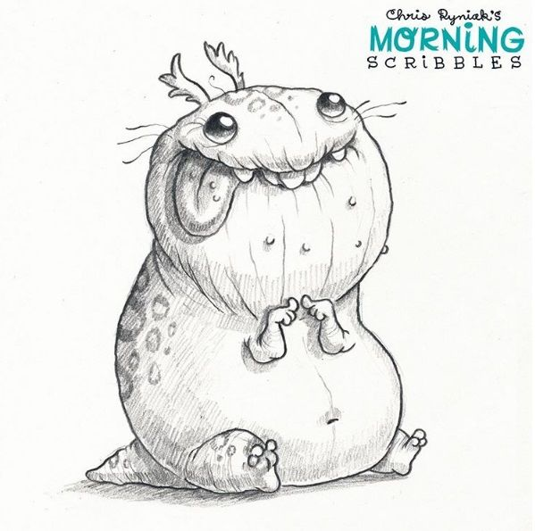 Scribble Drawing Ideas : Best art chris ryniak little monstr images on pinterest