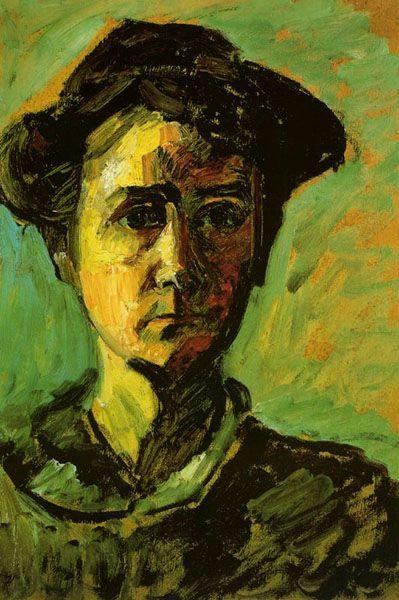 Gabriele Munter (1877-1962) was lid van de Neue Künstlervereinigung München en Der Blaue Reiter. Münter was de levensgezellin van Wassily Kandinsky. Ze hield een aanzienlijk deel van zijn werk verborgen tijdens en vlak na de Tweede Wereldoorlog en gaf het later terug aan de openbaarheid, met werken van zichzelf en kunstenaarsvrienden van Der Blaue Reiter.
