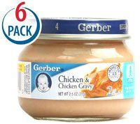 Gerber 2nd Foods Chicken and Chicken Gravy -- 2.5 oz Each / Pack of 6 8grams of protein. low in sodium. no sugar. very high in iron.  #Gerber #Health_and_Beauty