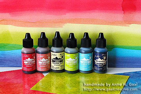 36 ways to use alcohol inks. Link to Jennifer McGuire's Thinking Inking tutorials.