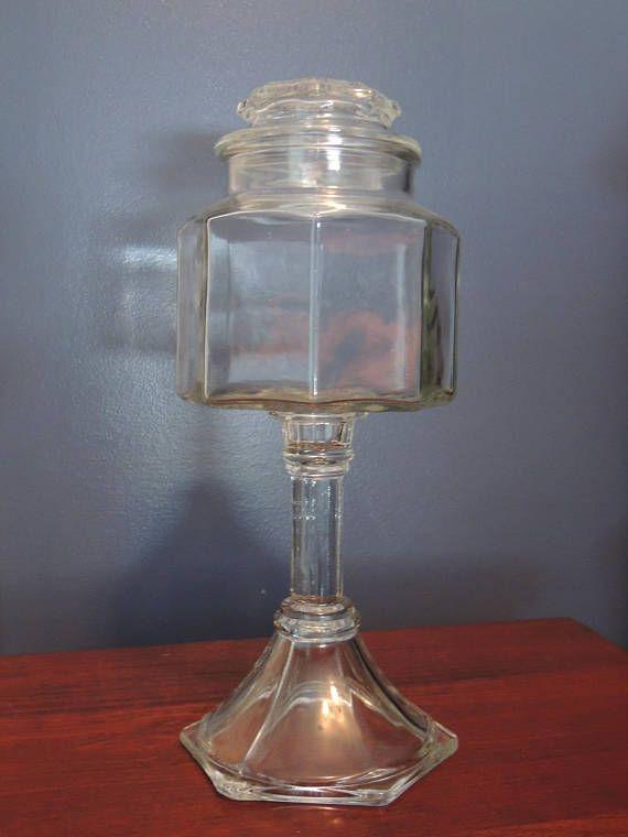 Apothecary Jar, Sea Shell Collection Jar, Wedding Decoration, Wedding Candy Bar, Candy Dish, Pedestal Apothecary Jar, Bathroom Storage
