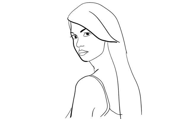 21 portret poses voor een vrouwelijk model