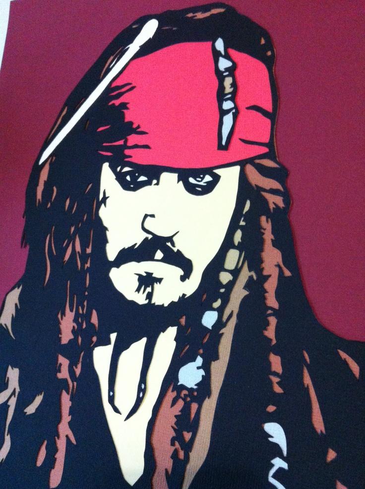 Jack Sparrow Papercut Portrait