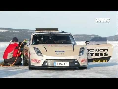 Fastest on Ice: electric car E-RA with Nokian Hakkapeliitta 7s