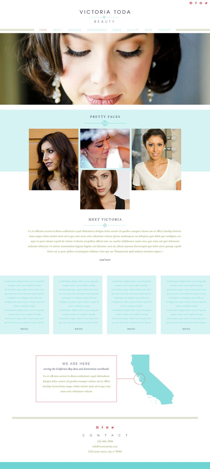 Makeup artist logo and website: Take a look at our fresh face and clean website…