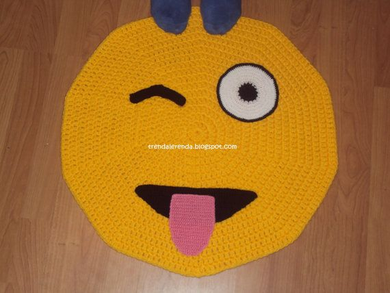 Hey, I found this really awesome Etsy listing at https://www.etsy.com/listing/228288843/crochet-rug-and-tongue-wink-emoticon