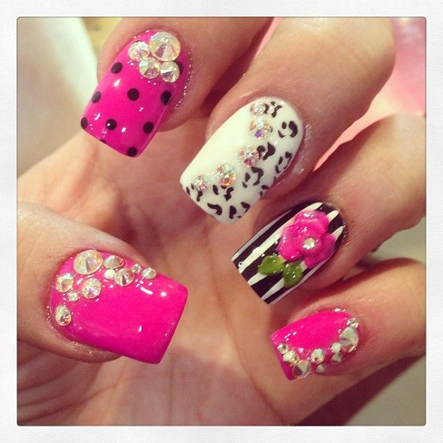 Hot Nail Designs: Hot Pink Nails