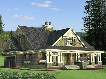 17 best ideas about craftsman house plans on pinterest for Perfect for corner lot house plans