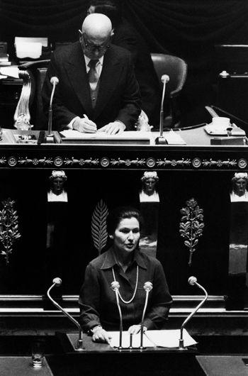 Loi du 17 juin 1975 relative à l'interruption volontaire de grossesse Discours de Simone Veil à l'Assemblée nationale, première séance du 26 novembre 1974