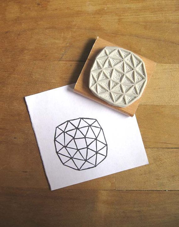 Crystal Configuration 05 - Hand Carved Stamp