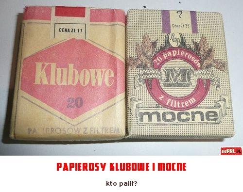 papierosy klubowe i mocne