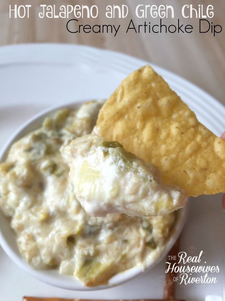 Hot Jalapen and Green Chile Creamy Artichoke Dip
