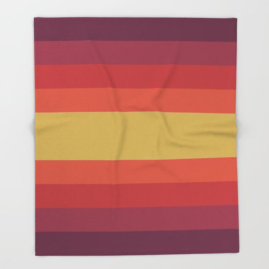 Retro 70's Throw Blanket by Scar Design.   #society6  #throwblanket #blanket   #homedecor #homegifts #giftsforhim #giftsforher #retro #retrogifts #bachelorhome #70s #colorful #stripes #abstract #design #moderngifts