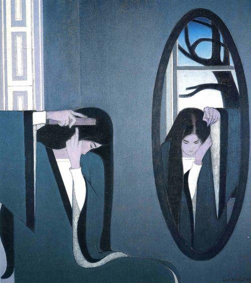 Will Barnet (USA, 1911-2012) - The Mirror, 1981.