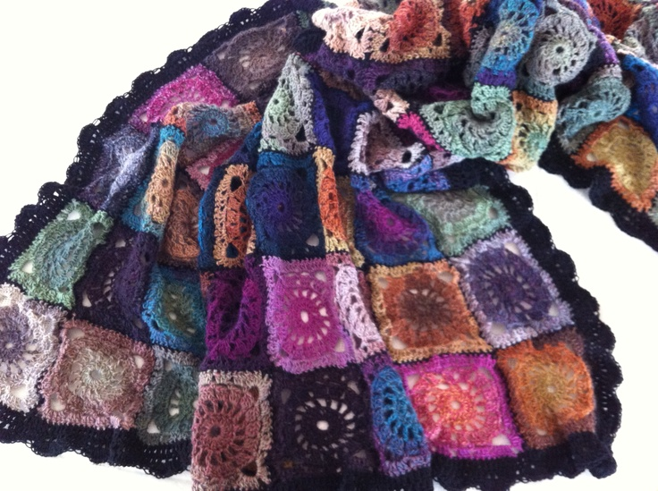 Crochet, lots of varm colours.