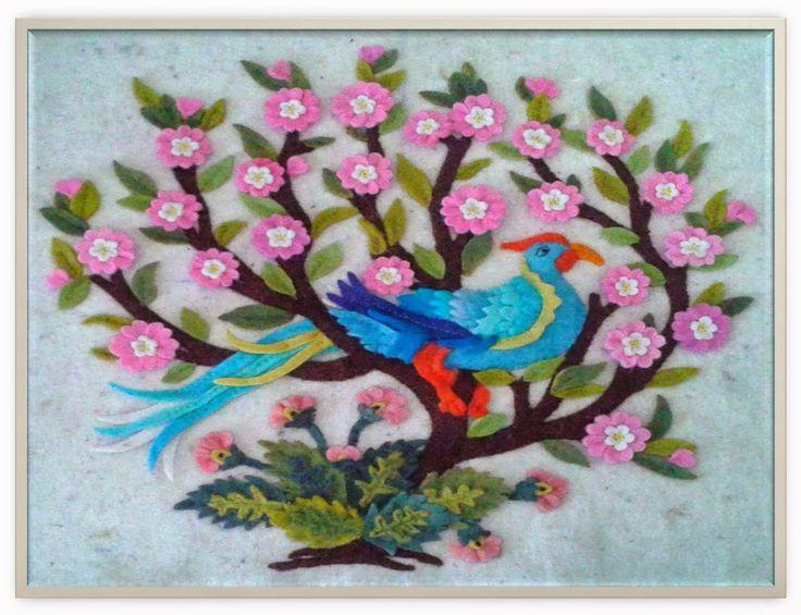 Keçe ile tavuskuşu-Sümbül Eldek